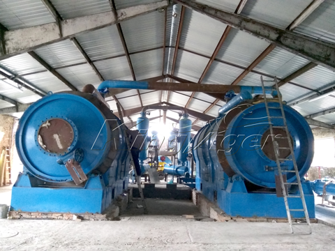 Waste Tires Pyrolysis Plant