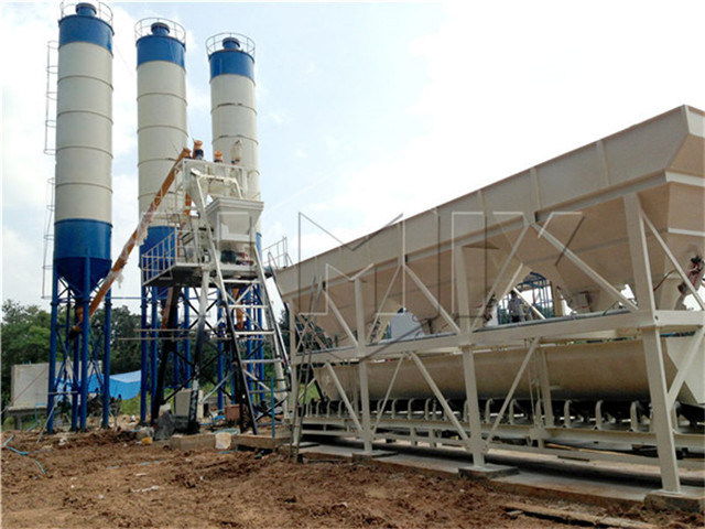 Stationary concrete mixing plant price